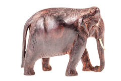 Wooden elephant sculpture stock images