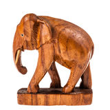 Wooden elephant Stock Images