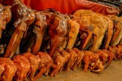 Wooden Elephant statues Stock Photo