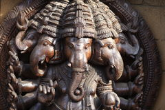 Wooden elephants Stock Photos