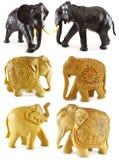 Wooden elephants Stock Photos