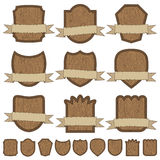 Wooden emblems Royalty Free Stock Photo