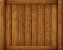 A wooden empty board Stock Photography