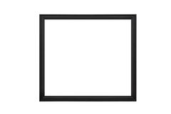 Wooden empty picture frames. Isolated on white background Royalty Free Stock Images