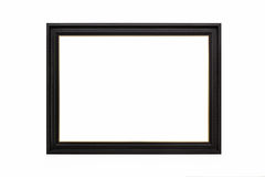 Wooden empty picture frames. Isolated on white background Stock Images