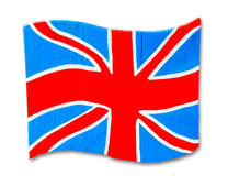 The Wooden of england flag Royalty Free Stock Photography