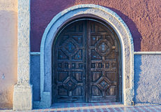 Wooden entrance doors. Royalty Free Stock Image