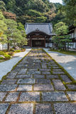 Wooden entrance of a japanese temple in kyoto. Wooden entrance of a old japanese temple in kyoto Stock Photography