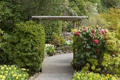 Wooden Entrance to Garden Royalty Free Stock Photo