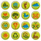 Wooden environment icons set 3 Royalty Free Stock Photography