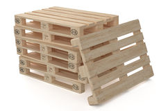 Wooden eur pallets. Isolated on white background Royalty Free Stock Image