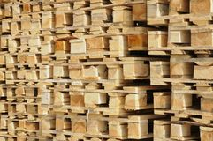 Wooden euro pallets Royalty Free Stock Photos