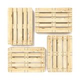 Wooden Euro pallets. Top view. 3D Stock Photography