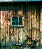 Wooden Exterior Wall Stock Photo