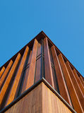 Wooden facade. An office building with a wooden façade Royalty Free Stock Images