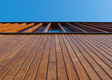 Wooden facade Royalty Free Stock Image