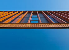 Wooden facade. An office building with a wooden façade Stock Photography