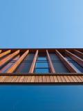 Wooden facade. An office building with a wooden façade Royalty Free Stock Photo
