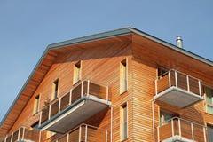 Wooden_facade foto de stock royalty free