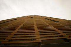 Wooden facade of a modern building Royalty Free Stock Photo