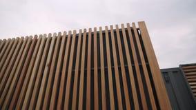 Wooden facade of a house. stock photos