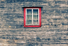 Wooden facade window Royalty Free Stock Image