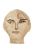 Wooden Face Royalty Free Stock Photo