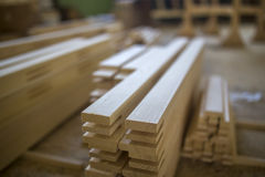 Wooden factory Stock Photo