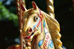 Wooden fairground horse Royalty Free Stock Image
