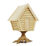 Wooden fairy house isolated on a white background. 3d rendering Stock Photos