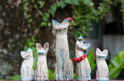 Wooden family cat.. Stock Photo