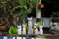 Wooden family cat.. Stock Photo