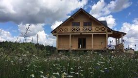 Wooden family house - Poland. stock video
