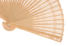 Wooden fan Royalty Free Stock Image