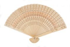 Wooden fan Royalty Free Stock Photography