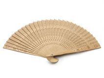 Wooden fan Stock Photos