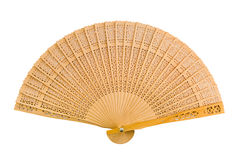 Wooden fan Royalty Free Stock Photo