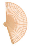 Wooden fan Stock Photo