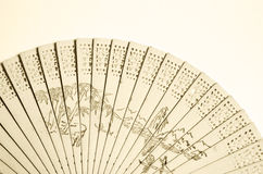 Wooden fan Stock Photography