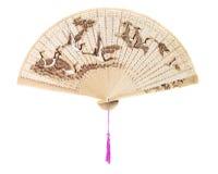 Wooden fan Stock Image