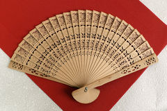 Wooden fan Royalty Free Stock Images