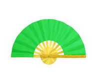 Wooden fan on the white Stock Photos
