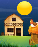 A wooden farm barn Royalty Free Stock Photo