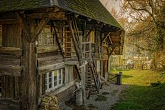 Wooden farm house Royalty Free Stock Photo