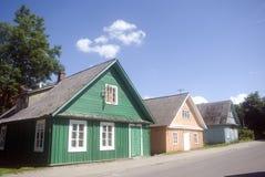 Wooden farmsteads, Trakai, Lithuania Stock Photos
