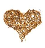 Wooden fat heart Royalty Free Stock Photos