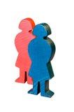 Wooden female figures Stock Photos
