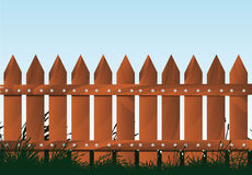 Wooden Fence. Illustration of a wooden fence Stock Image