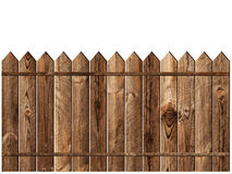 Wooden fence. Over the white backgroynd Stock Images
