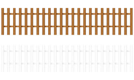 Wooden fence 2. Wooden fences on a white background. Vector illustration Stock Photography